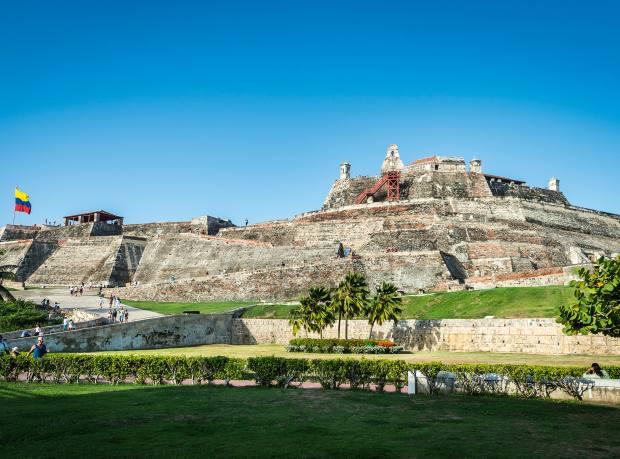 A view of San Felipe de Barajas castle in Cartagena, Colombia