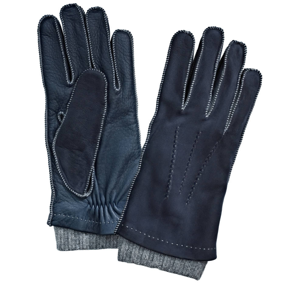 William & Son suede and cashmere gloves, £200