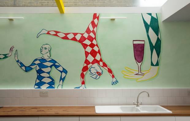 Edwina Gieve's kitchen, painted by Maxted Murals