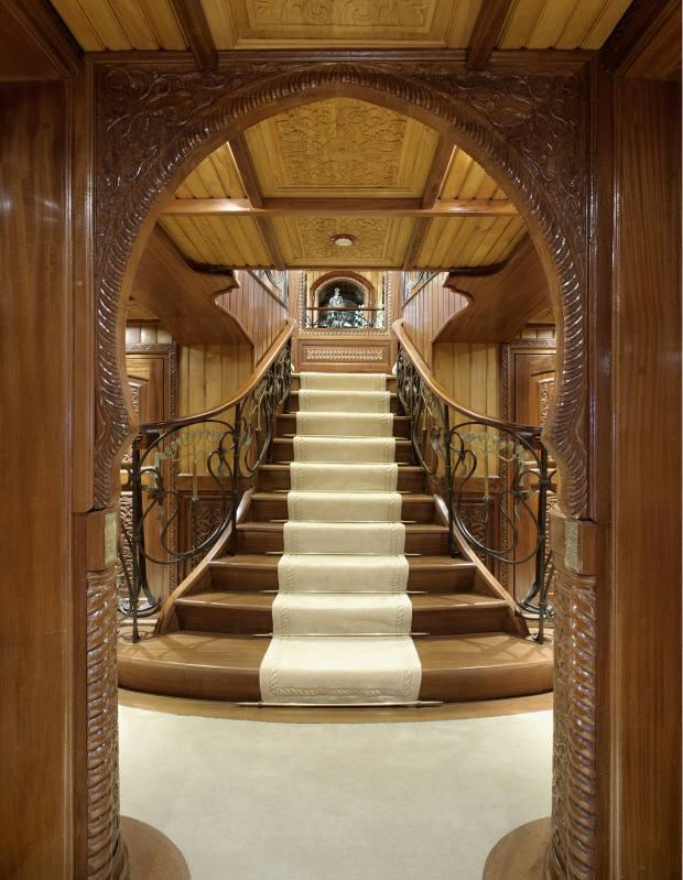 Moorish-style decor on La Sultana