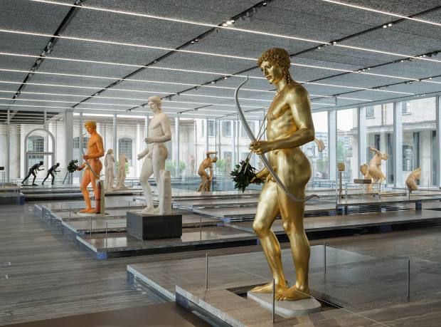 Versions of the Kassel Apollo at the Fondazione Prada's recent Serial Classic exhibition