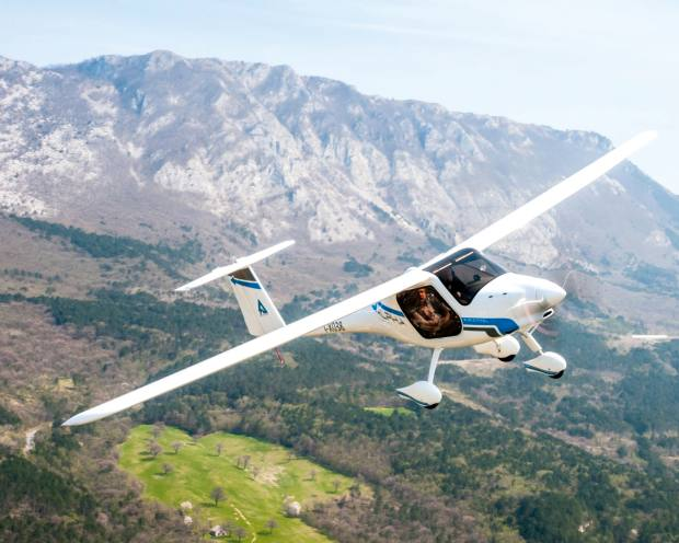 Pipistrel's Alpha Electro, €141,600, is an entirely electric two-seater aeroplane