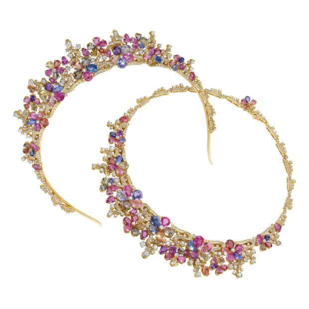 Bulgari sapphire and diamond convertible necklace and tiara, price on request