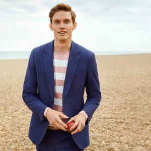 Cotton-seersucker suit, £790