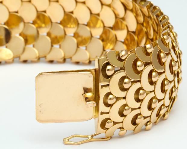 Juliette Moutard for House of Boivin 18ct-gold Ecaille bracelet, $29,000