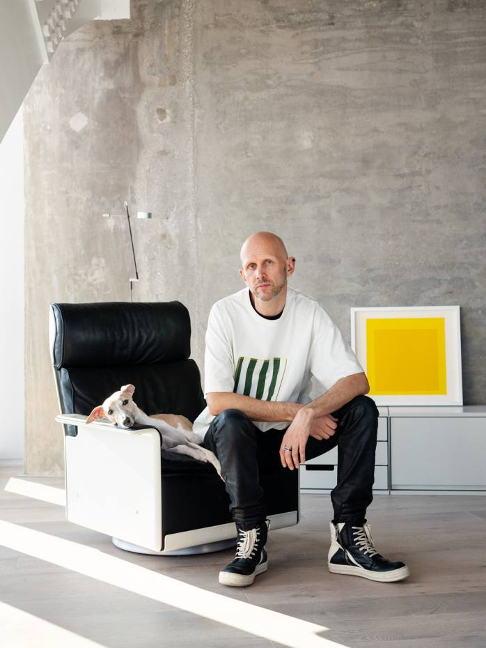Choreographer and director Wayne McGregor at home in London