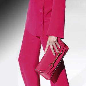Gucci patent-leather clutch with horsebit detail, £535