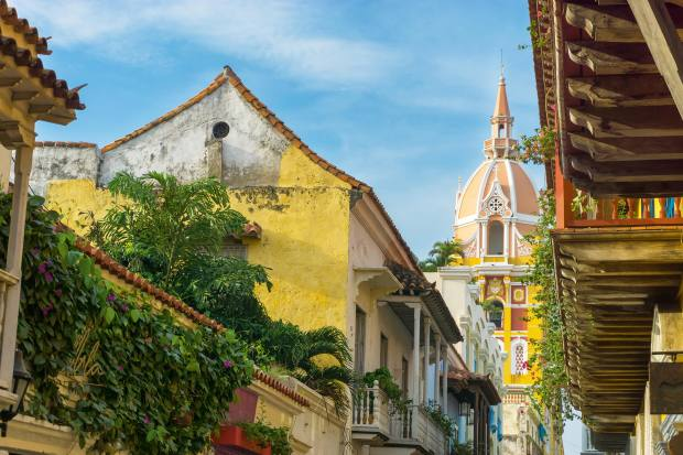 The eclectic colours of Catedral de Cartagena
