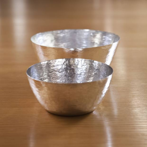 Tapio Wirkkala 1960s hand-hammered silver bowls, €1,500