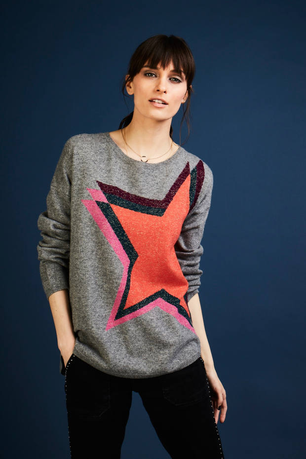 Cashmere and Lurex Estelle Star jumper, £220