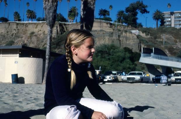 Maria on Santa Monica Beach in 1977