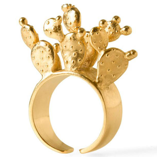 Sophie Simone's cactus cluster ring, £145, from the V&A store