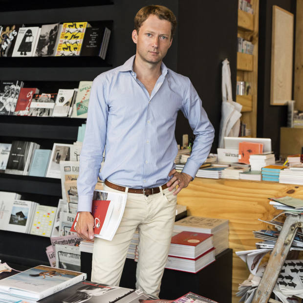 Vitra Design Museum director Mateo Kries at Berlin bookshop Do You Read Me?!