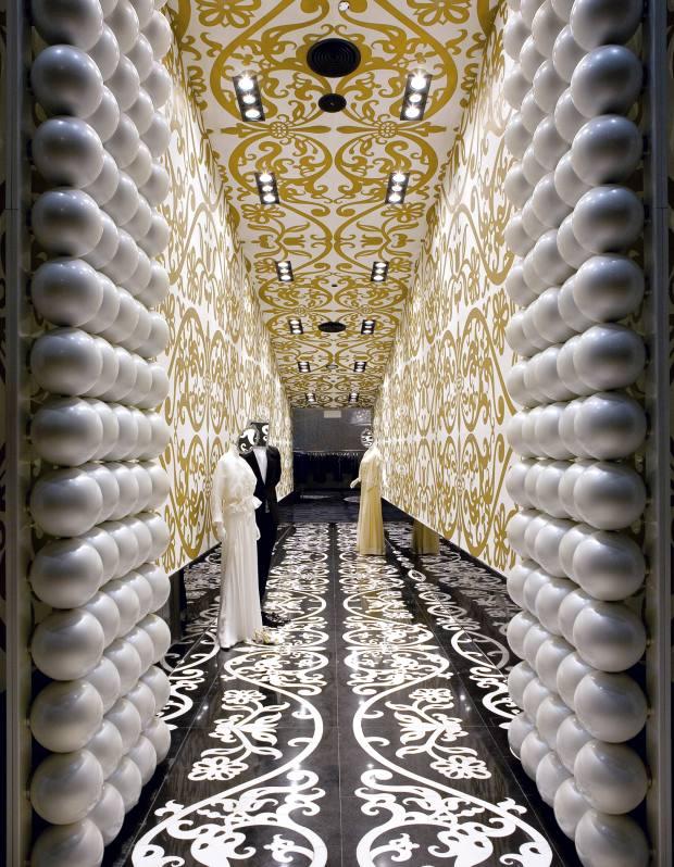Bahrain's Villa Moda entrance.