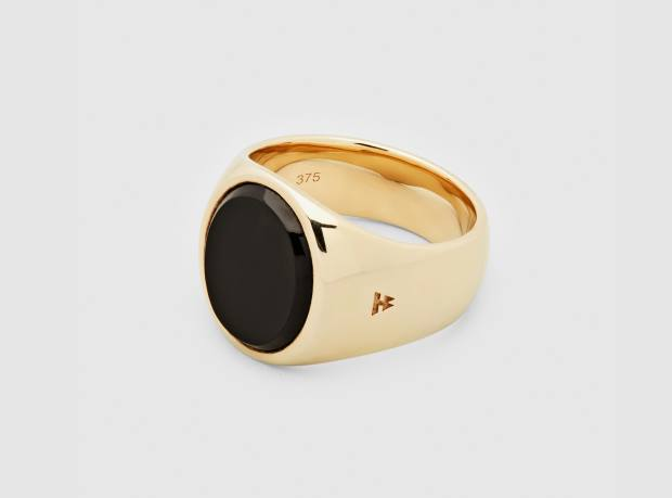 Tom Wood gold and onyx ring, £1,259