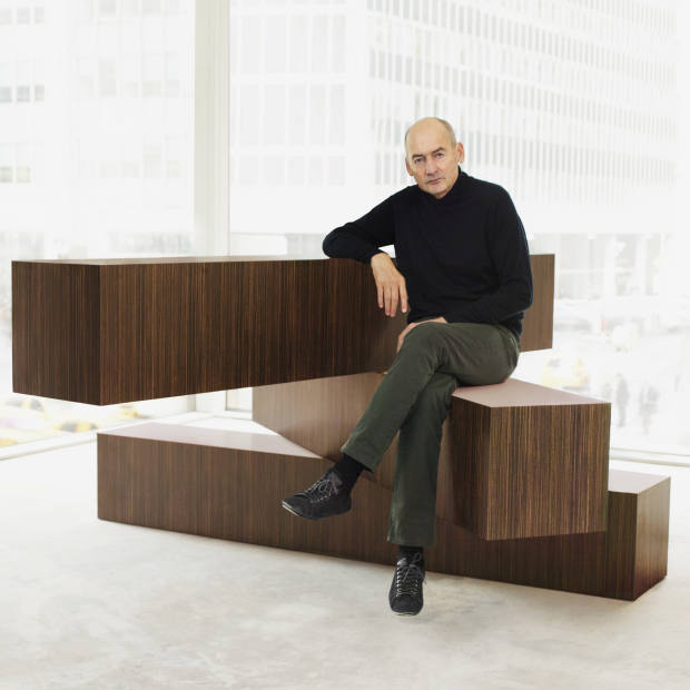 Rem Koolhaas and the 04 Counter. All pieces from the Tools For Life collection for Knoll, prices on request