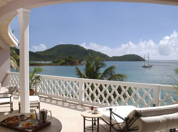 A suite at Curtain Bluff