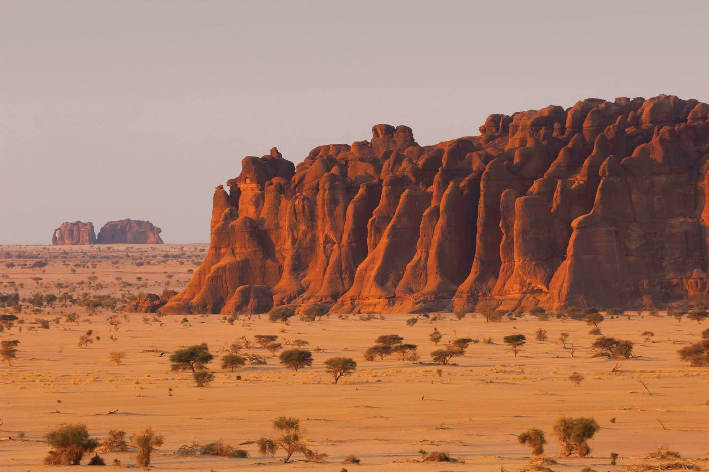 The Ennedi Massif is a Unesco World Heritage site with abundant rock art.