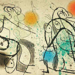 Le Courtisan Grotesque, 1974, illustrated by Joan Miró, sold at Christie's for €56,250