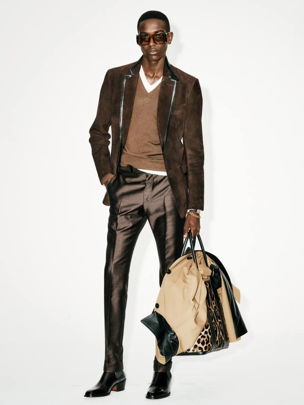 Tom Ford suede and leather blazer, £5,590