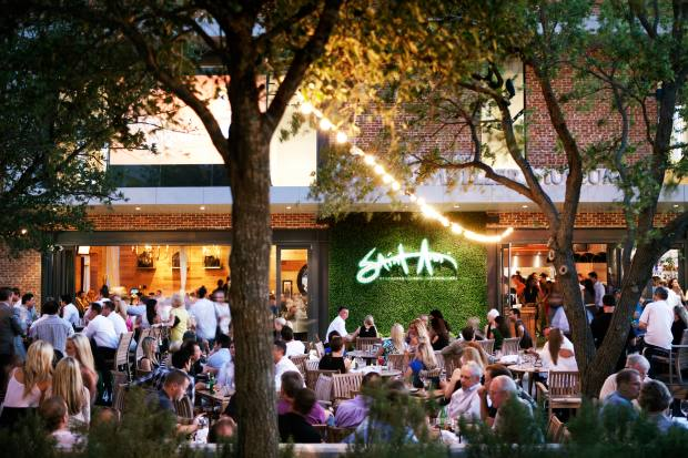 Saint Ann Restaurant & Bar is housed in a historic Dallas landmark, with a world-renowned samurai museum upstairs and a stunning garden patio