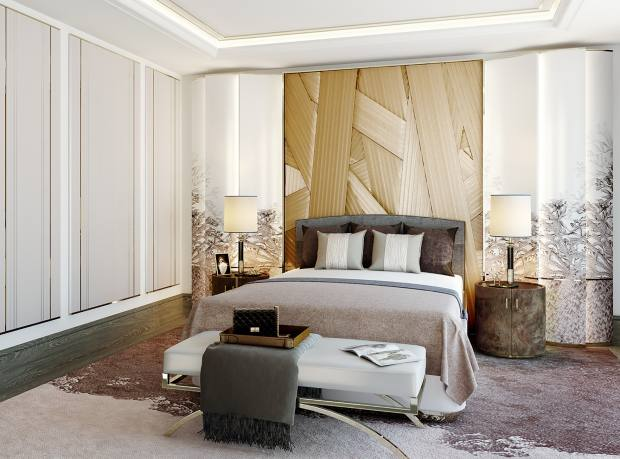Aiveen Daly silk headboard for Martin Kemp Design, from £15,000
