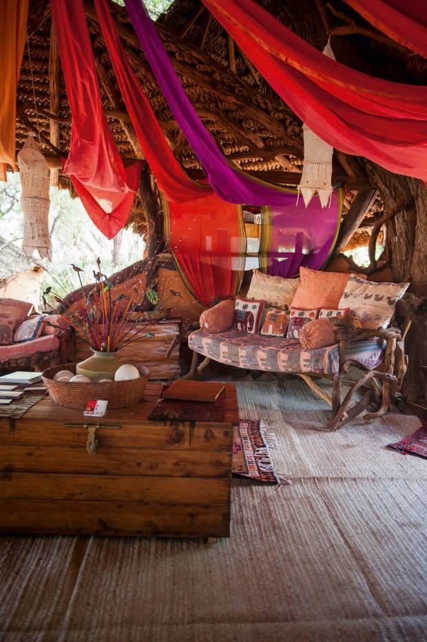Inside oneof thetents at ElephantWatch Camp