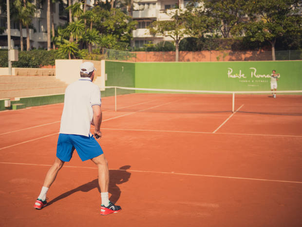 The resort also has eight clay courts
