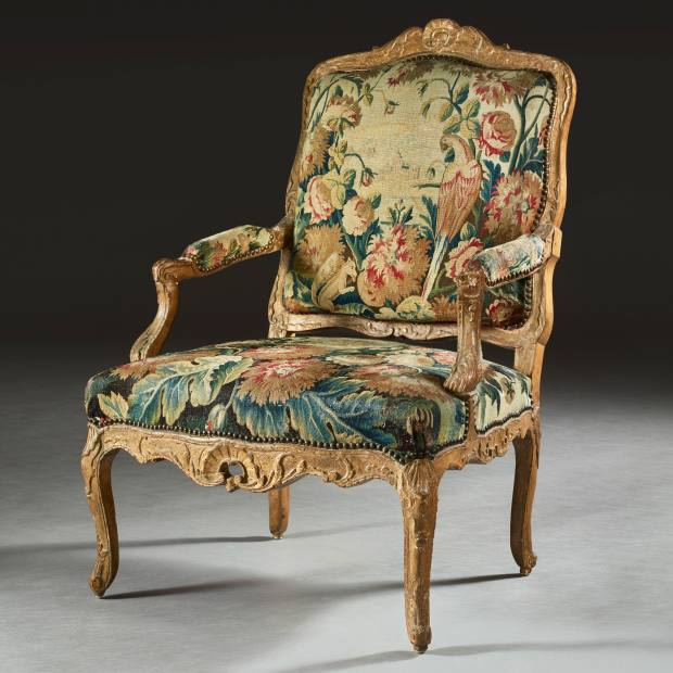 """This Régence period armchair (€5,000-€8,000) """"would capture everyone's attention placed in a loft"""""""