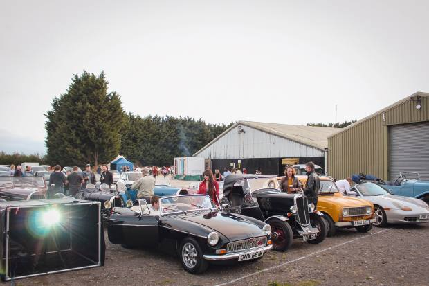 TheClassic Motor Hub in Gloucestershire entertains car enthusiasts at its drive-in cinema