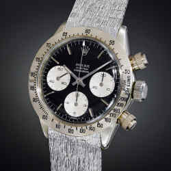 the only known white-gold version of the Rolex Daytona 6265, the Unicorn made in 1970 is expected to fetch over SFr3m (about £2.25m) at theMay 12 Phillips sale.