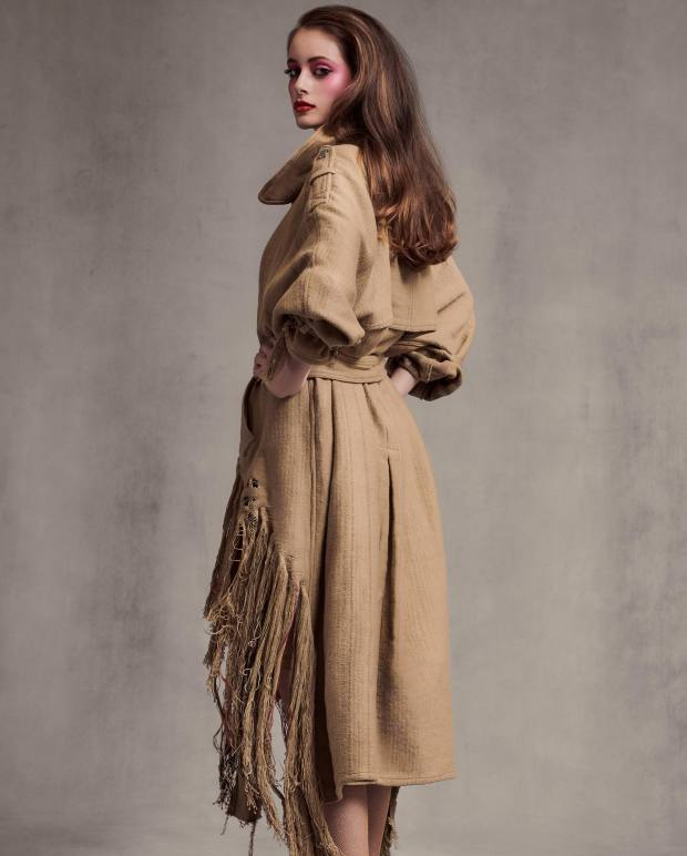 Faustine Steinmetz cotton trench, £799. H&M fishnet tights, £8.99