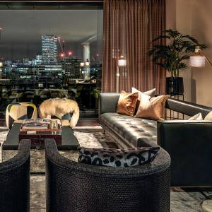 A sitting room at Rathbone Square, penthouses from £6.9m