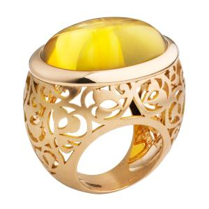 Pomellato Arabesque ring in rose gold and amber, £5,200