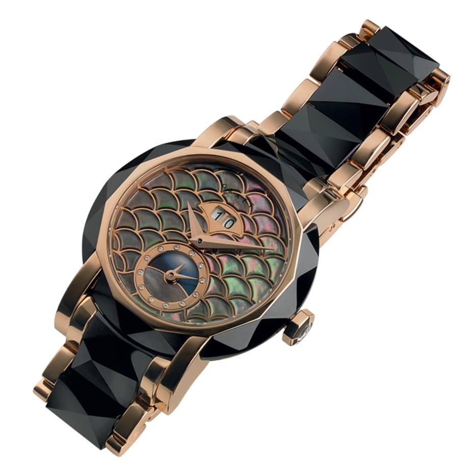Graff GraffStar watch in rose gold, mother-of‑pearl and ceramic, £25,000
