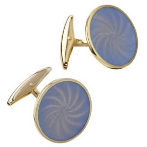 Longmire cuff links in 18ct rose gold and enamel, £3,900
