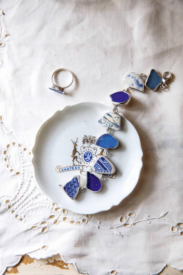 Her Lisa Hall sea-glass bracelet