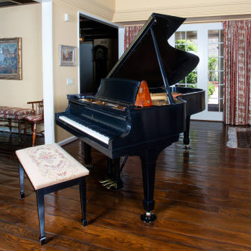 The Steinway & Sons grand piano bought by Nancy and Frank Sinatra in 1949, one of the stars of the sale, $30,000-$50,000