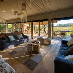 The lounge area at Little Tubu camp