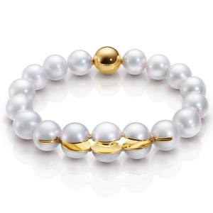 M/G Tasaki 18ct gold and freshwater pearl Sliced Series bracelet, £7,210
