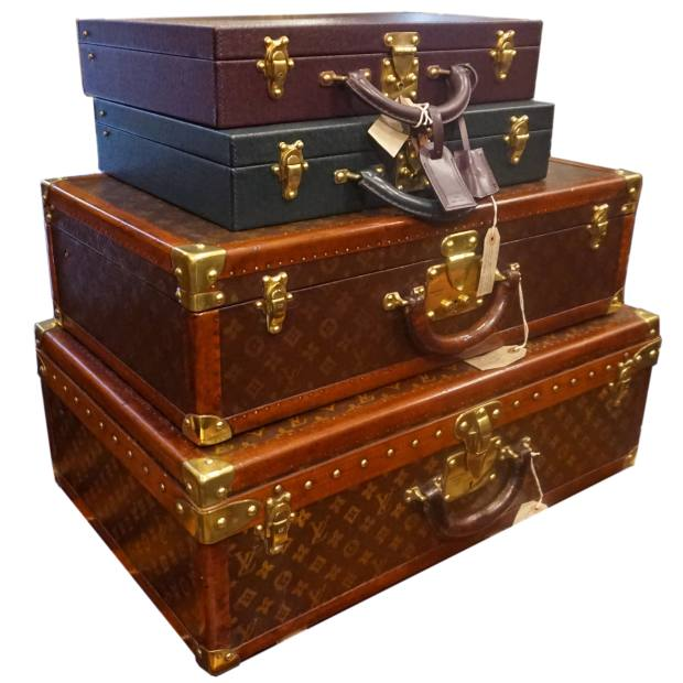 Antique Louis Vuitton luggage, price on request from Tin Tin Collectables, Alfies Antique Market