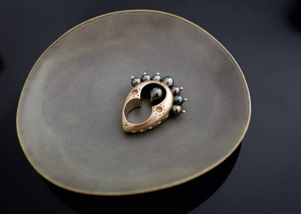 Zeller's bronze and pearl ring, designed by Nathalie Dmitrovic