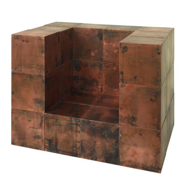 Paul Kelley copper-clad-MDF Bob cubes, from £195 per cube