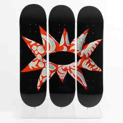 Flowering Heart Triptych Skate Deck, $595