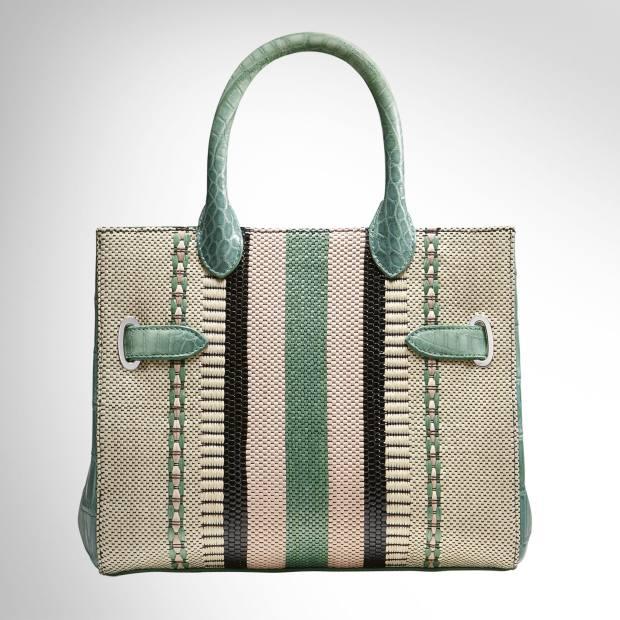Crocodile and woven raffia Darcy Square bag, £8,500