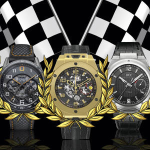 Carrera MP4-12C chronograph, £8,950, by TAG Heuer. BB Magic Gold, £27,000, by Hublot. IW5005 Big Ingenieur, £9,350, by IWC