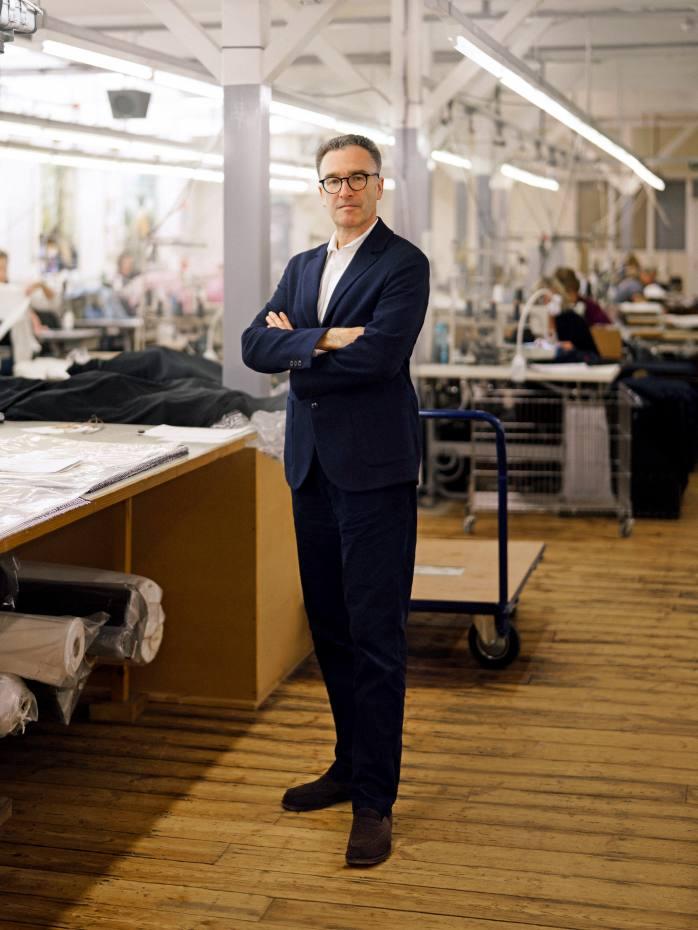 Sunspel chief executive Nicholas Brooke at the company's Long Eaton factory