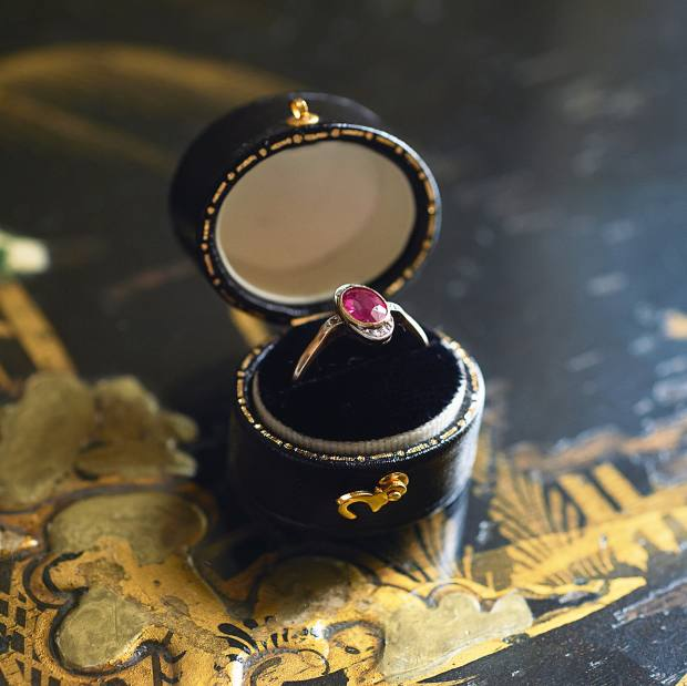 Flohr's ruby ring given to her by her grandmother