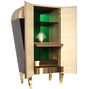 Davide Rizzo collaborated with Italian maker Aliprandi Valentino to create this drinks cabinet for a client in Dubai