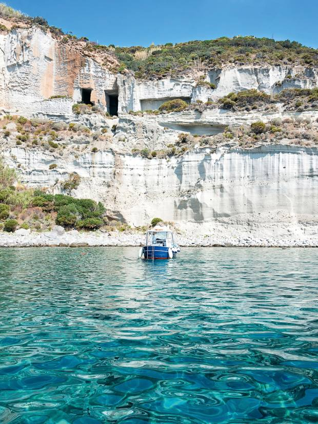 Remote Palmarola, which Salvagnirecommends exploring by boat